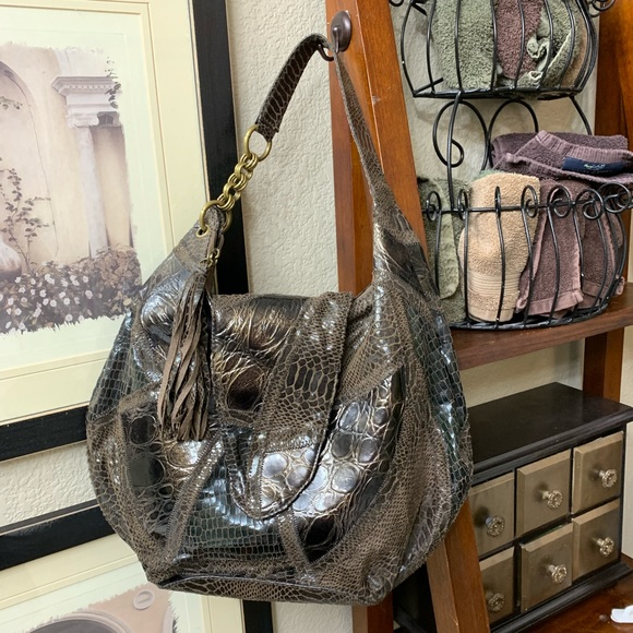 854ea3beddc Carlos Falchi Bags | For Target Brown Hobo Snakeskin | Poshmark